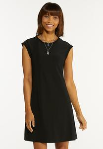 Plus Size Black Ruffled Dress