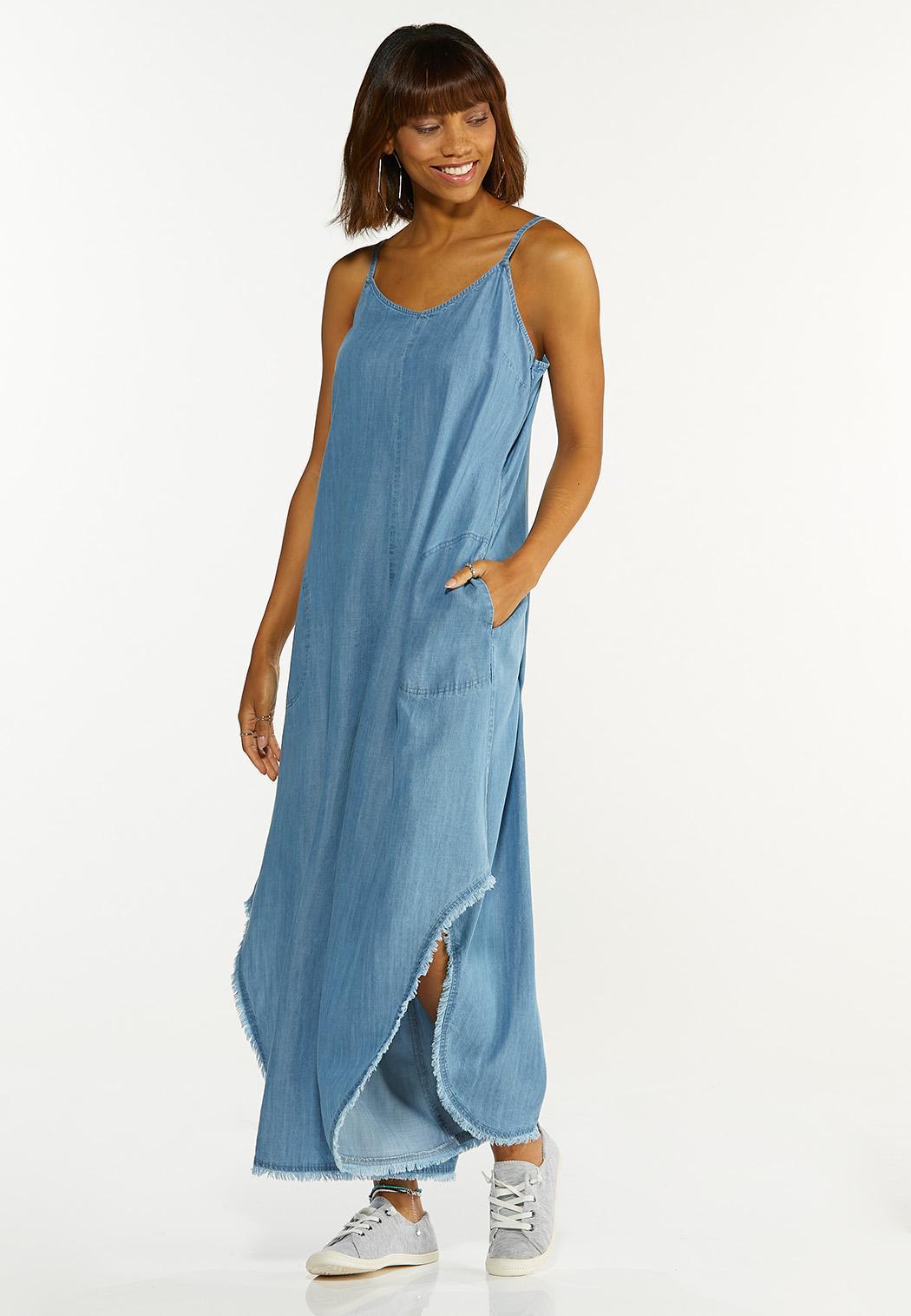 Plus Size Chambray Genie Jumpsuit
