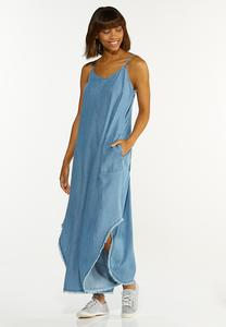 Plus Size Chambray Genie Jumpsuit