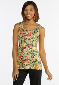 Tropical Floral Tank