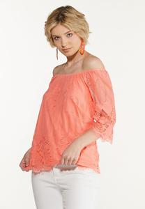 Peachy Lace Top