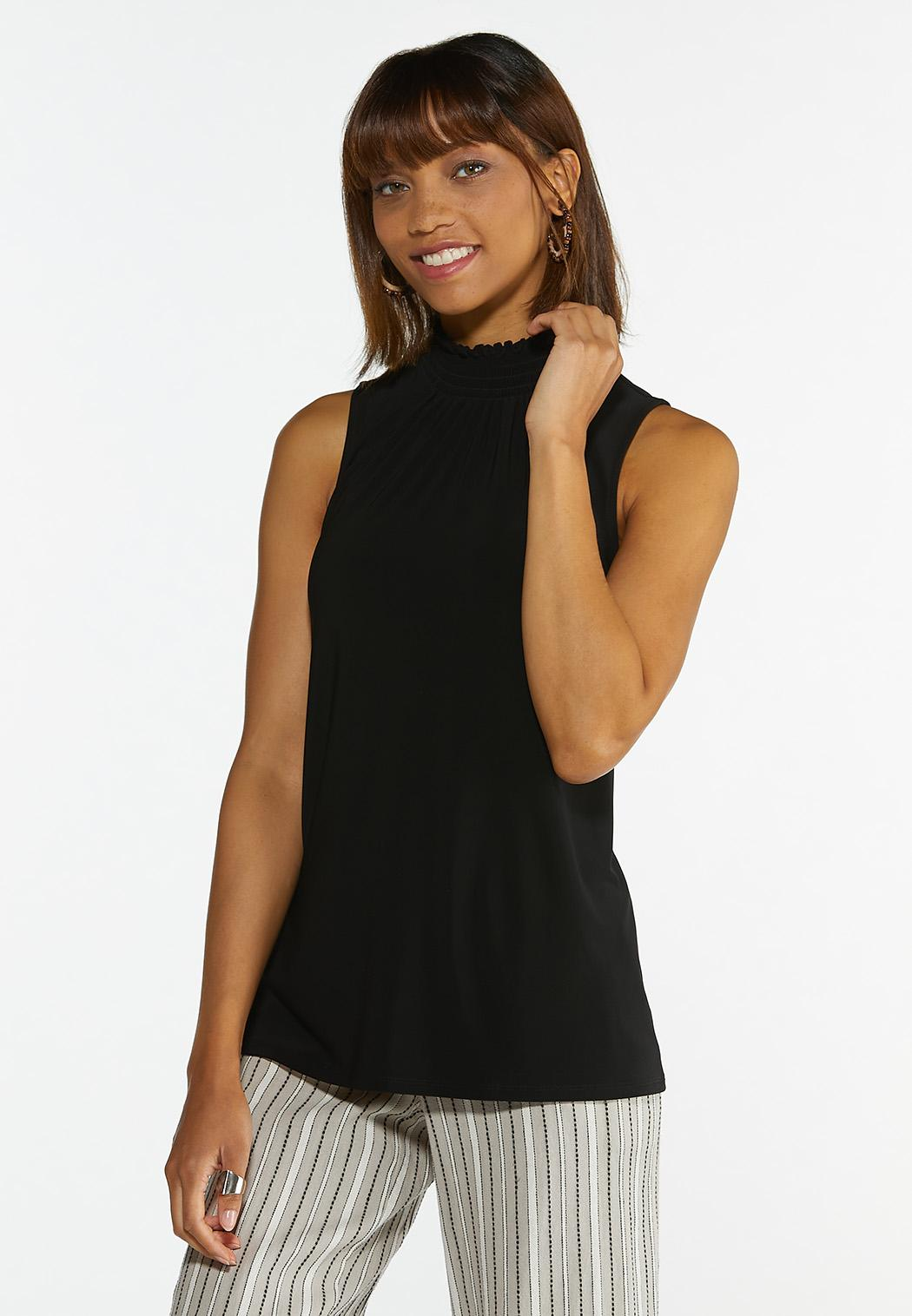 Solid Smocked Tank
