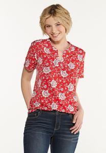 Floral Puff Top