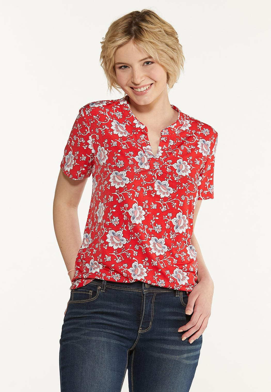 Plus Size Floral Puff Top