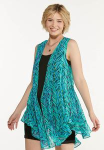 Brushed Chevron Vest