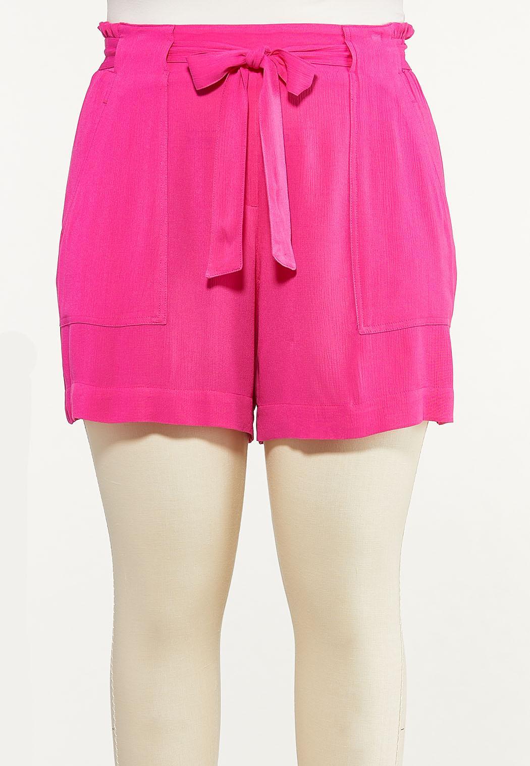 Plus Size Summer Berry Gauze Shorts