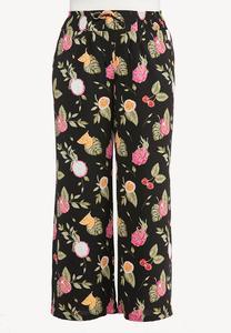 Plus Size Tropical Fruit Cocktail Pants