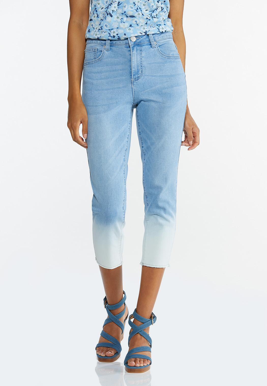 Cropped Ombre Jeans