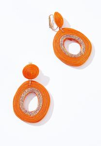 Thread Wrapped Clip-On Earrings