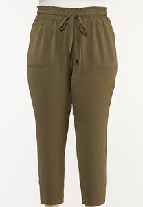 Plus Size Olive Track Pants