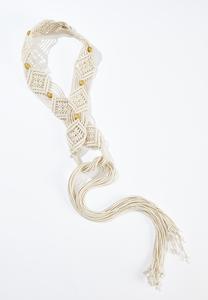 Plus Size Braided Rope Belt