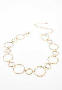 Plus Size Gold Hoop Chain Belt