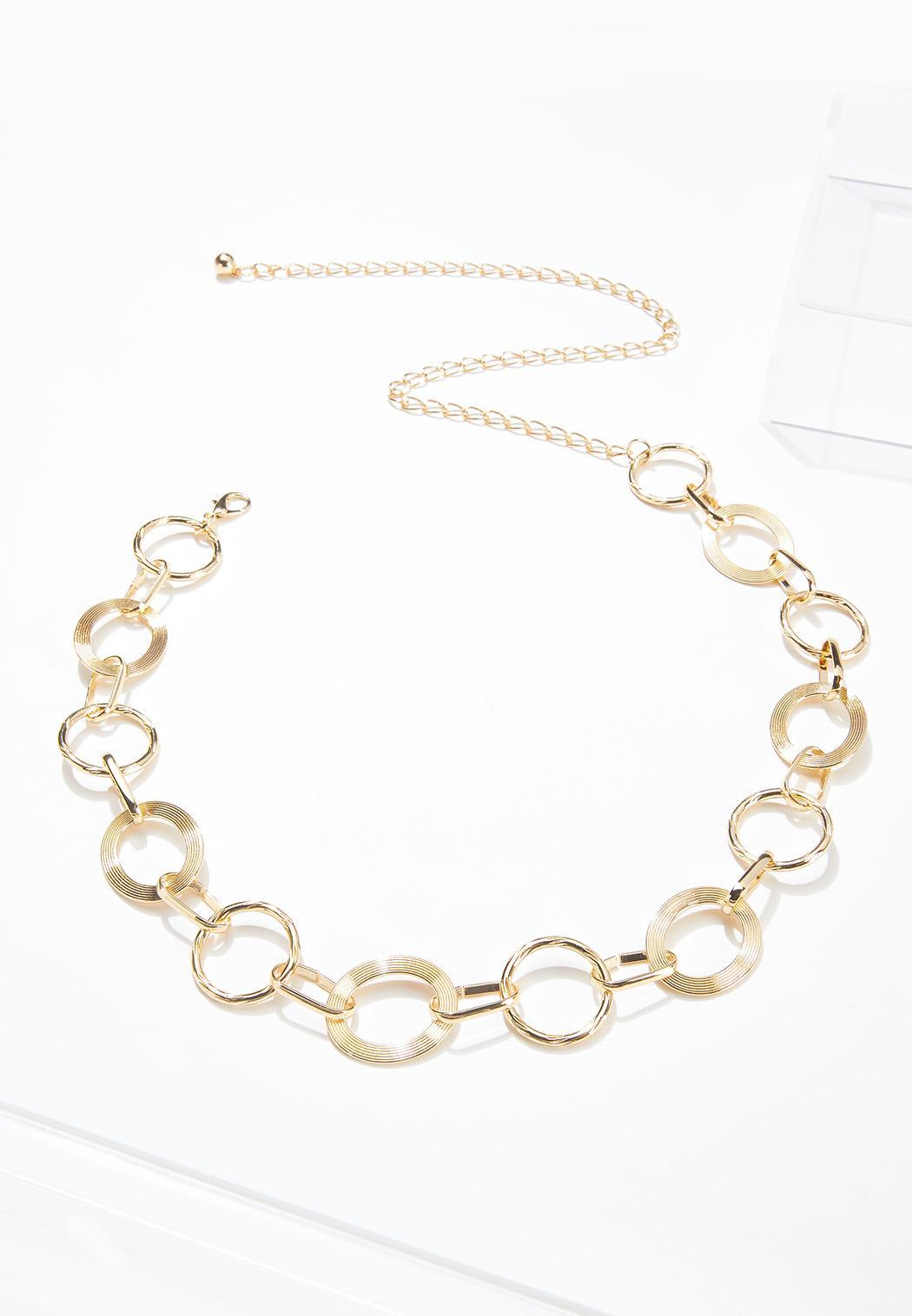 Plus Size Detailed Circle Chain Belt