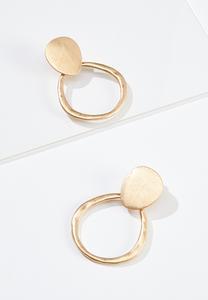 Gold Door Knocker Clip-On Earrings