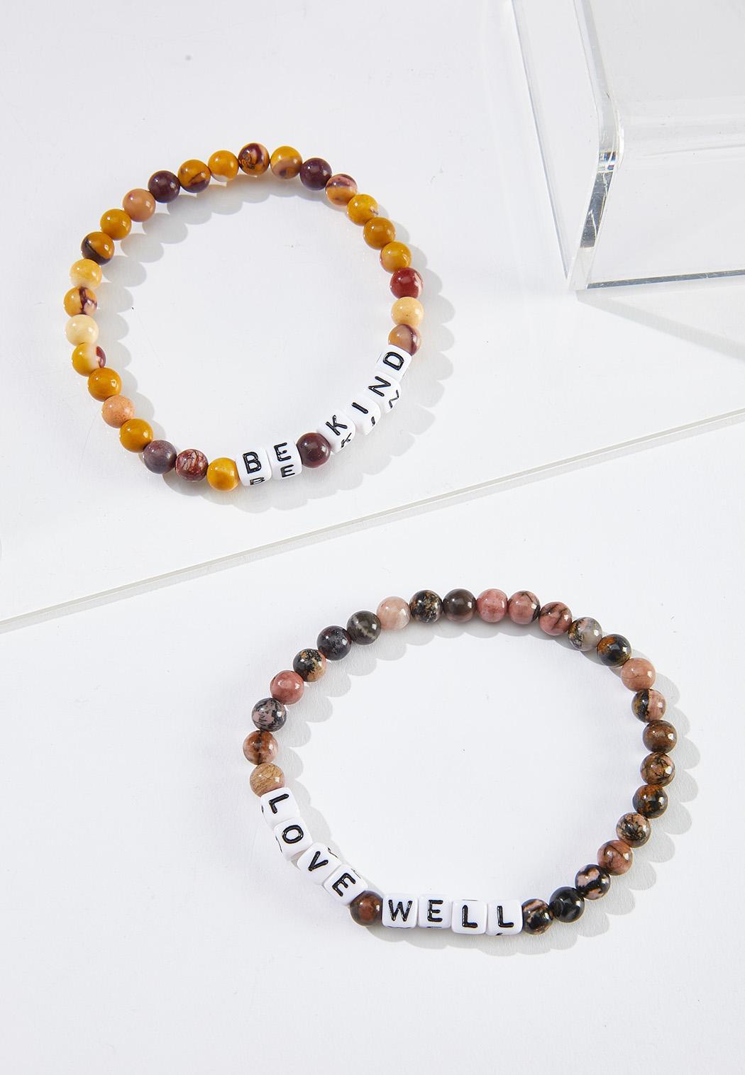 Be Kind Stone Bracelet Set