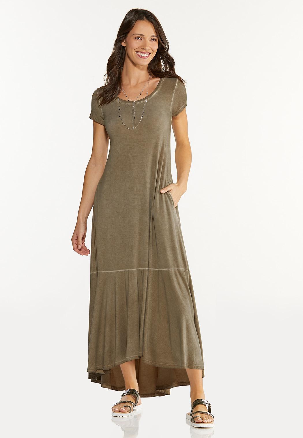 Plus Size Ruffled Tee Maxi Dress