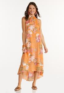 Tropical Smocked Maxi Dress