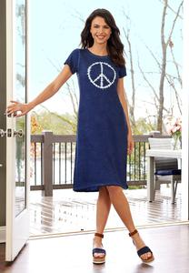 Tie Dye Peace Shirt Dress
