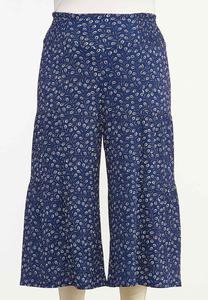 Plus Size Cropped Navy Fields Pants