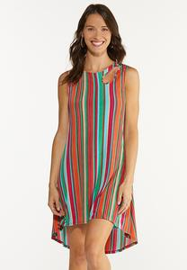 Multi Stripe Ribbed Dress
