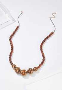 Metal Dot Bead Necklace