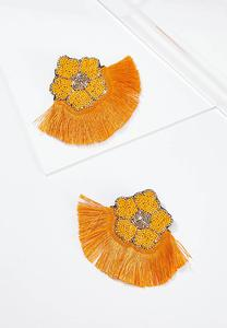 Apricot Fringe Earrings