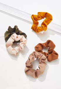 Solid Scrunchie Set
