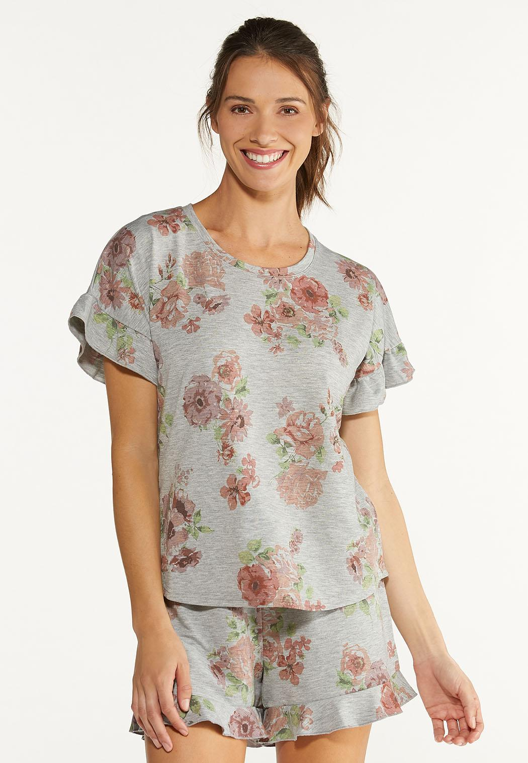 Ruffled Floral Tee