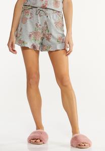 Ruffled Floral Shorts