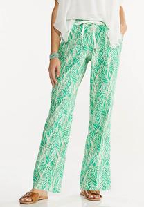 Palm Leaf Linen Pants