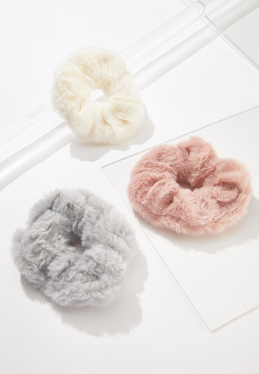 Fur Scrunchie Set