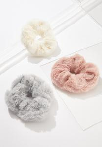 Fur Scrunchie Set