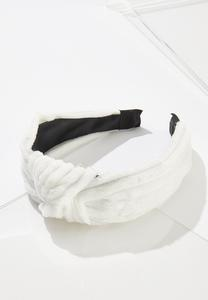White Plush Headband