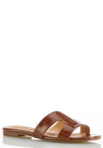 Wide Width Croc H-Band Slide Sandals