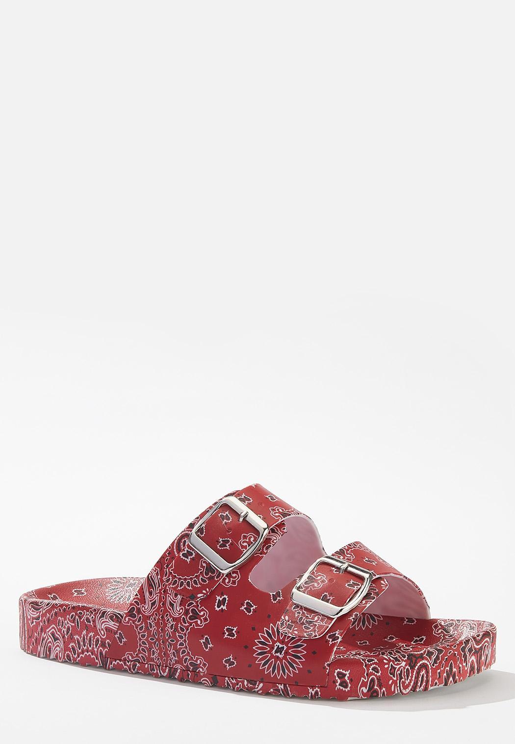 Bandana Double Buckle Sandals