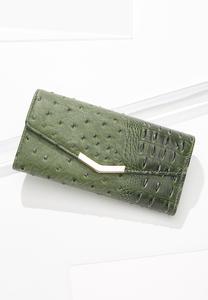 Olive Ostrich Wallet