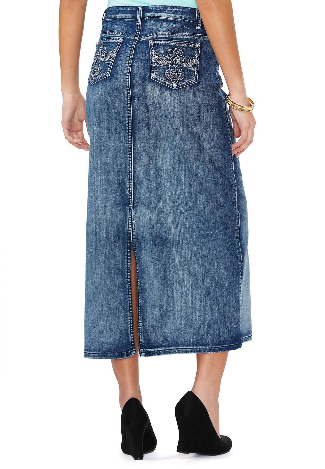 embellished scroll pocket denim skirt skirts cato fashions