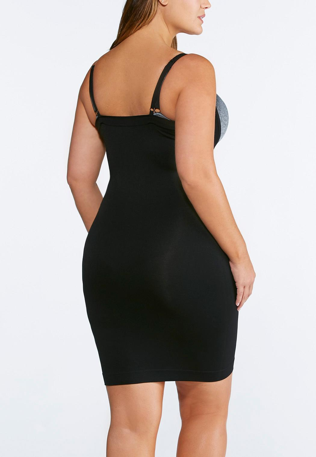 Plus Extended Black Seamless Slip (Item #35051473)