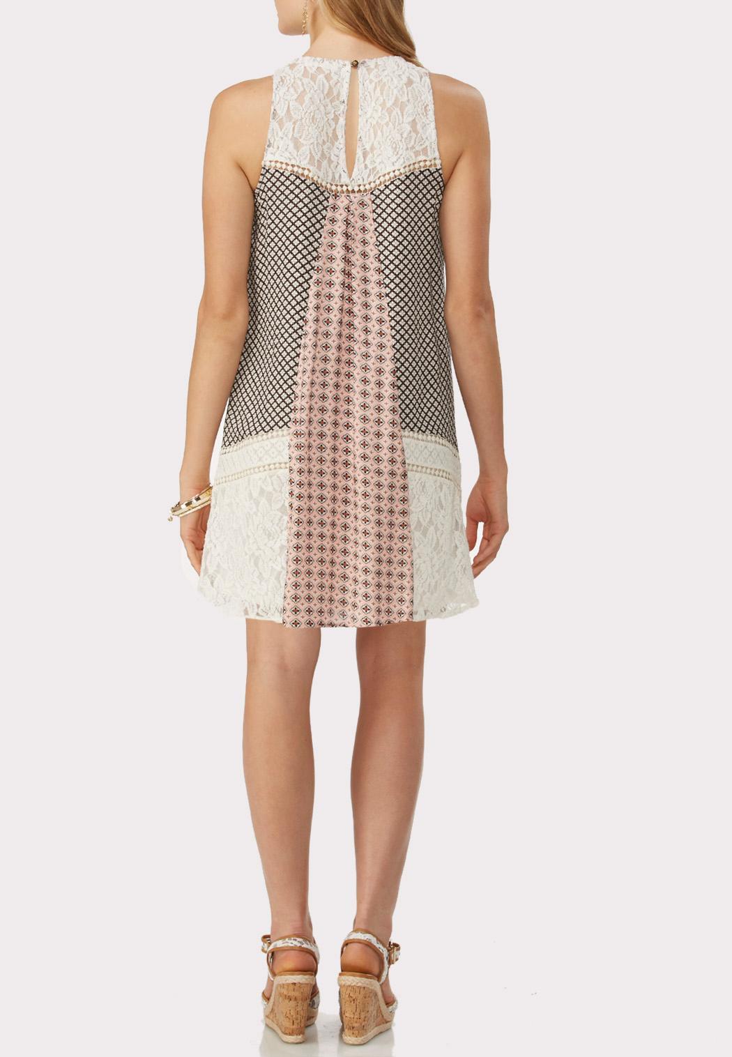 Mixed Media Trapeze Dress Plus Dresses Cato Fashions
