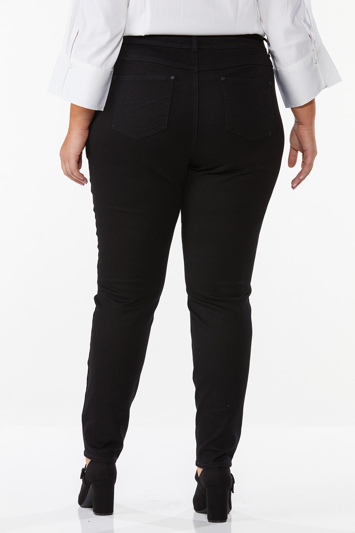 Plus Size Black Jeggings (Item #37461514)