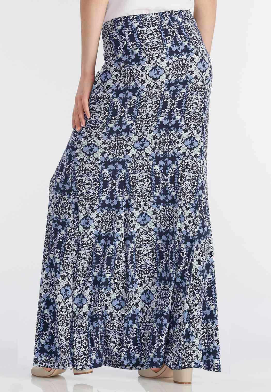 botanical mermaid maxi skirt plus maxi cato fashions
