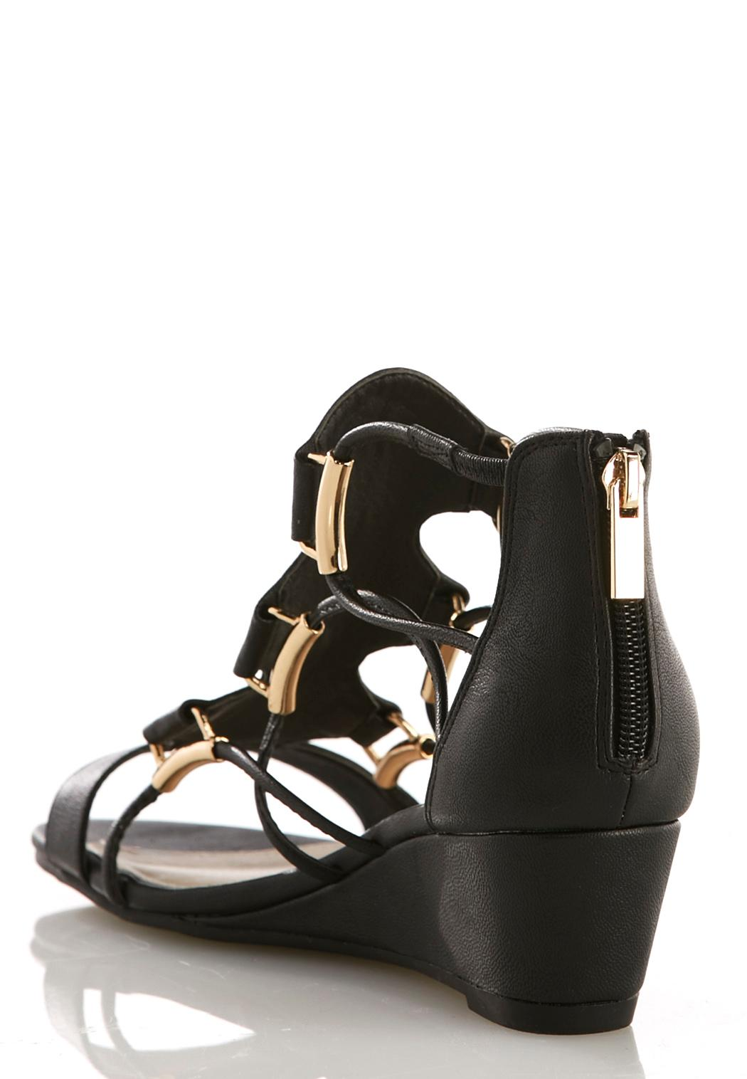 corded gladiator wedge sandals wedges cato fashions