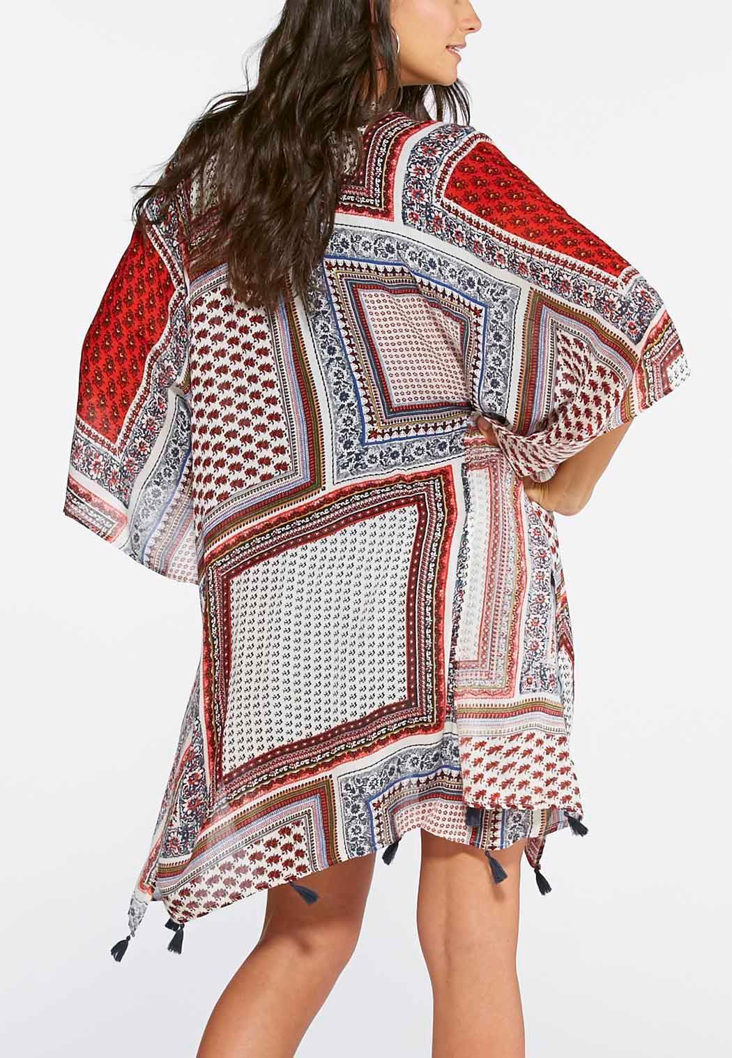 Cato fashions careers - Patchwork Floral Print Kimono