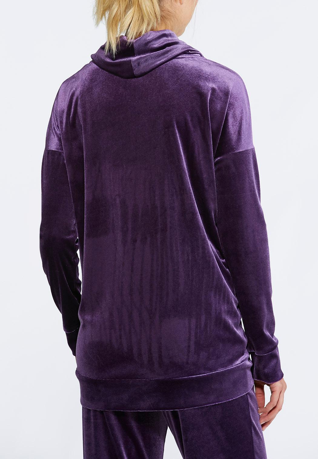 Velour cowl neck top tops cato fashions