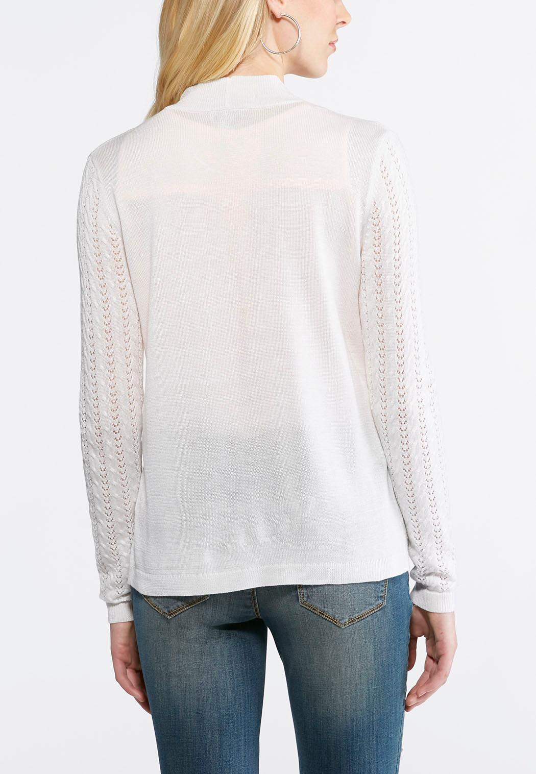 Waterfall Cardigan Sweater-Plus Cardigans & Shrugs Cato Fashions