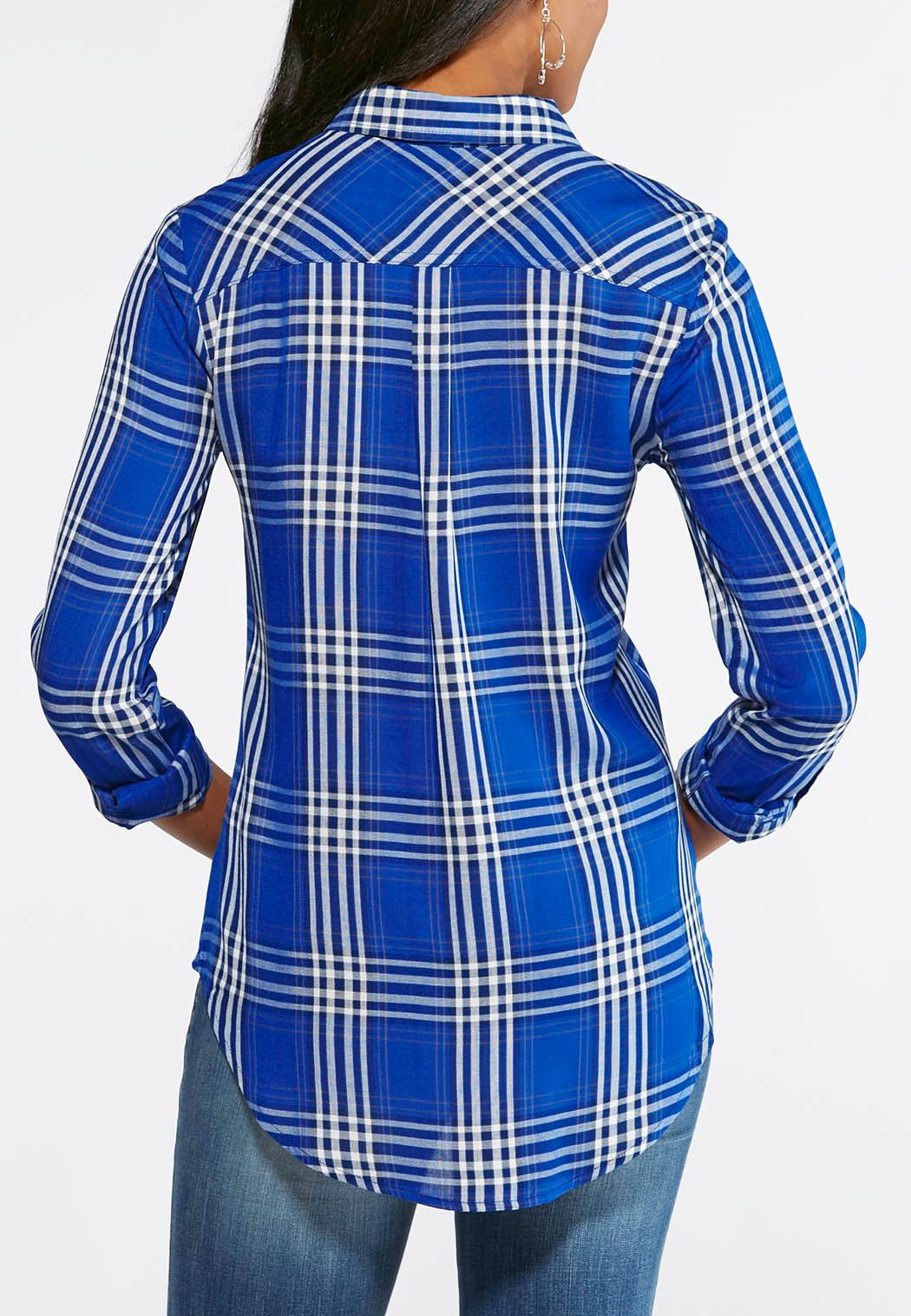 Cato fashions careers - Embroidered Gingham Plaid Shirt