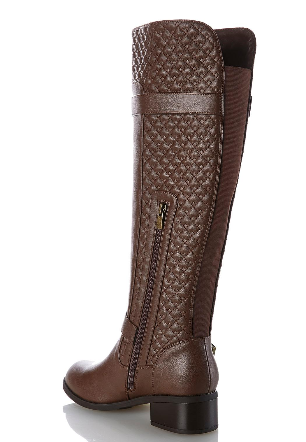 Quilted Riding Boots Tall Cato Fashions