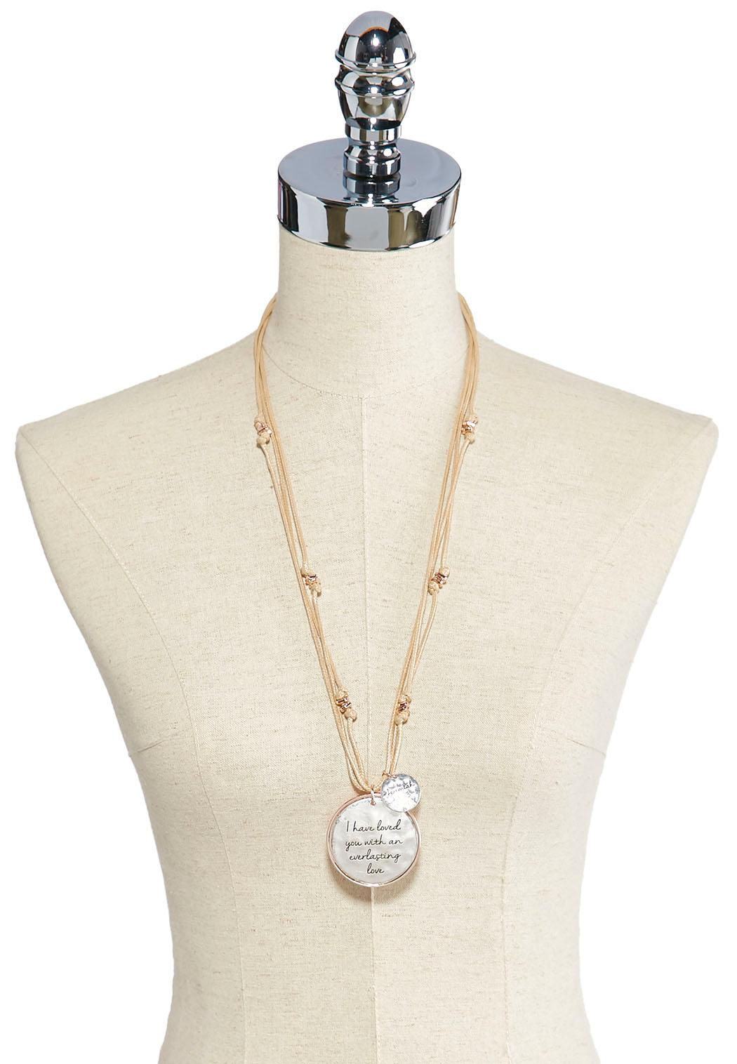 Inspirational Cord Necklace (Item #42283598)