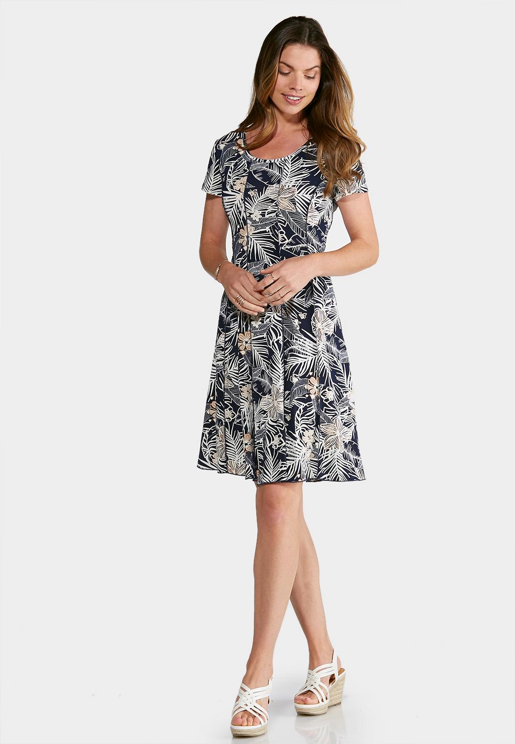 Plus Size Seamed Puff Navy Floral Dress Dresses Cato Fashions - What is invoice payment plus size online stores