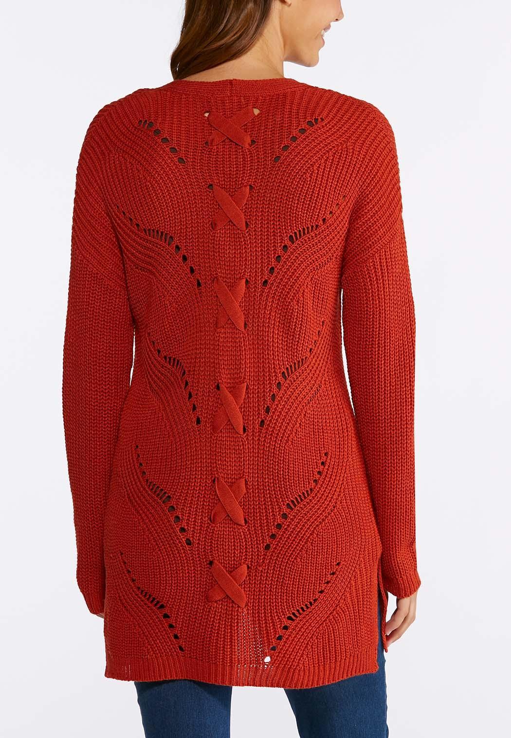 plus size lace up back cardigan sweater cardigans shrugs cato fashions